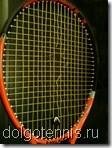 Теннис в Долгопрудном. Ракетка Лёши Негребецкого. Экзотический крестообразный разрыв.