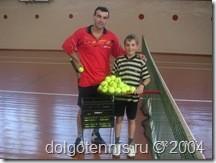 Кобец Тимофей и Миша Дорофеев. Теннис в Долгопрудном 2004 год.