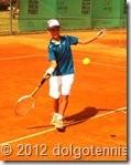 Теннис в Долгопрудном. На корте Никита Щелкунов.