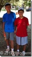 Теннис в Долгопрудном. Триумфаторы недели - ученики физтех-лицея Дима Кураксин и Никита Щелкунов.