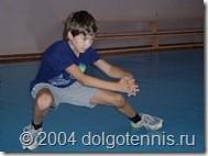 Саша Попов. Теннис в Долгопрудном. 2004 г.