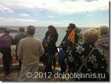 Наш великолепный гид Михаил (с каталонским флагом)