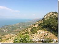 Вид с гор на Скадарское озеро.