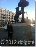 Символ Мадрида - медвежонок с земляничным деревом. Памятник на Puerta del Sol.