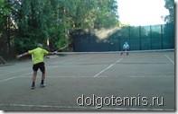 Тренировочный матч на корте в Долгопрудном Меликидзе Ш.А. - Кочин А.В.