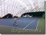 Теннис в Долгопрудном. Турнир семейных пар. Матч Никитины - Серафимовы.