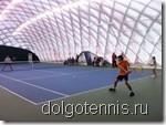Теннис в Долгопрудном. Турнир семейных пар. Матч Иванченко - Кураксины