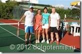 Участники парного финала на турнире в Италии. Слева: Александр и Евгения Кочины