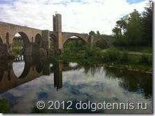 Мост в Бесалу.  Ему уже почти тысяча лет.