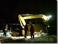 Авария на теннисном корте в Долгопрудном 23.01.2011