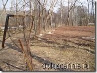 Так выглядел теннисный корт в Долгопрудном в апреле 2007 года