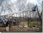 Реконструкция теннисного корта МФТИ. Май 2007.