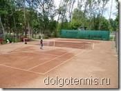 Долгопрудный - теннис. Грунтовый корт МФТИ после реконструкции. Июнь 2007.