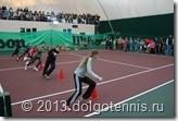 Первая часть теннисного праздника в Теннисном Центре Долгопрудный - эстафеты