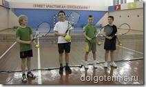 Теннис в Долгопрудном. Никита Иванченко на тренировке в спортзале ДЮСШ 15 ноября 2009 г.