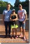 Лада Семёнова с папой и тренером