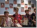 Призёры теннисного турнира в Санкт-Петербурге: 1 место - Ваня Пономаренко, 2 место - Савриян Данилов, 3 место - Дима Кураксин