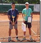 Победитель турнира Макар Смоляков и финалист Никита Садилин