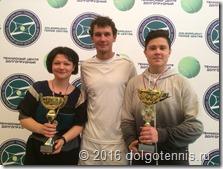 Максим Никаноров со своими учениками - победителями турниров Мариной Турянской и Иваном Ивановым