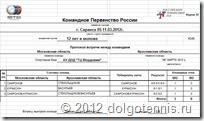 Протокол Московская обл - Саратовская обл