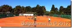 Команда Долгопрудного заняла все корты на теннисной базе Sol Umag