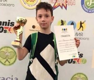 Максим Рубинштейн - победитель турнира Зелёный мяч