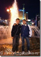 Лёша Негребецкий и Кирилл Баранов на Площади Независимости в Киеве