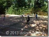 Летний лагерь в Долгопрудном. Света Шорина, Никита Серафимов, Рома Гринёв, Ваня Попов. Июнь 2013 г.