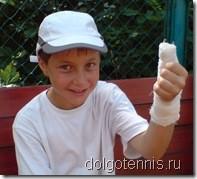 Саша Лаврентьев получил травму на теннисном турнире в Олимпийской деревне