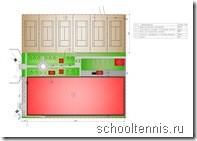 Схема Международной Академии Тенниса в Химках.