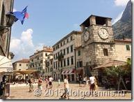 Котор. Старый город. Часовая башня.