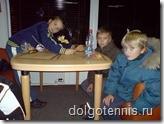 Ноябрь 2008 г. После тренирровки в Дмитровской Теннисной Академии