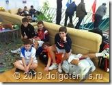 Братья Борисовы, Макар Смоляков, Стёпа Береснев и Митя Мартинович в перерыве между матчами.