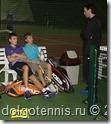 Макар Смоляков и Дима Кураксин на тренировке в Мытищинском Теннисном Центре