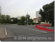 Движение от центра Долгопрудного по улице Дирижабельная