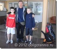 Вася Никитин и Егор Трофимов - победители парного турнира в Дмитрове. Дражен - в центре.