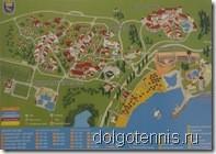 Карта - схема туристического комплекса Дюны