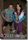 Участники Парного турнира ТЦ Долгопрудный 29.12.2013 г. - Михаил Дорофеев и Юлия Баранова.