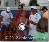 Александр Васильевич и Женя Кочины заняли второе место на теннисном турнире среди участников фестиваля Новая волна в Юрмале.
