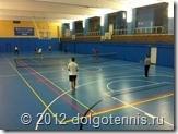 Секция тенниса МФТИ приступила к занятиям в обновлённом спортзале. Октябрь 2012 г.