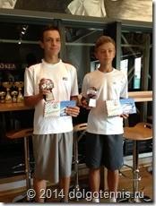 """Макар Смоляков и Дима Кураксин - победители турнира """"15th Babolat Cup"""" в парном разряде."""