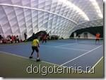 Теннис в Долгопрудном. Турнир семейных пар. Матч Барановы - Негребецкий Щелкунов