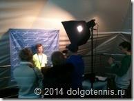 Дима Кураксин даёт послематчевое интервью на международном турнире в Химках.