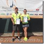 Макар Смоляков и Катя Шалимова - победители Летнего первенства г.Санкт-Петербурга в миксте.