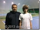 Сергей Олегович Бугаенко и Костя Комков на корте в Пялово