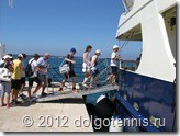 Садимся на морской катер в Fasana