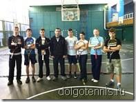 Теннис в Долгопрудном. Сборная МФТИ-2011 в боевом составе.