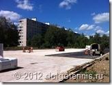 Строительство Теннисного центра в Долгопрудном.