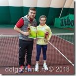 Виктория Милованова с тренером Владиславом Городецким.