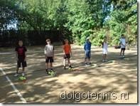 Тренировки группы №1 ДЮСШ на корте у Шоты Акакиевича